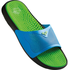 arena Marco X Grip Hook Sandals Unisex solid lime-turquoise